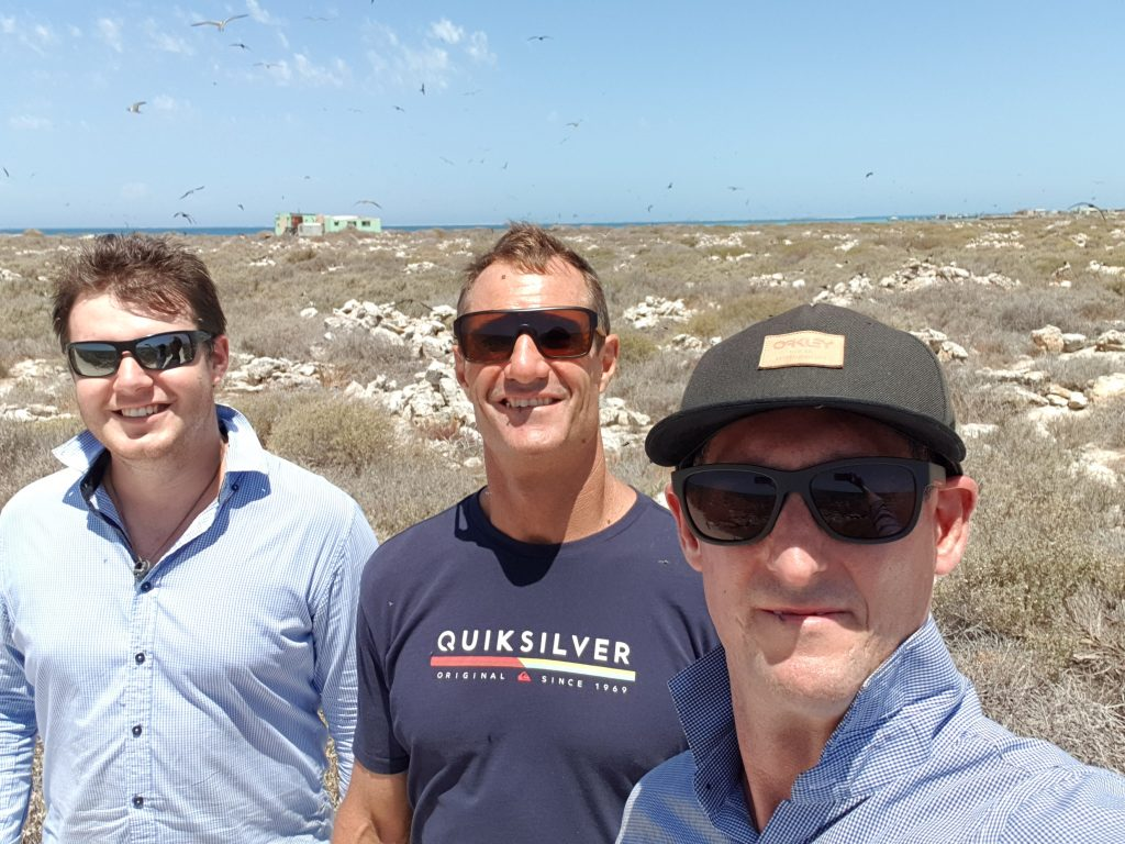 Flow Consulting Engineers team at the Abrolhos Islands